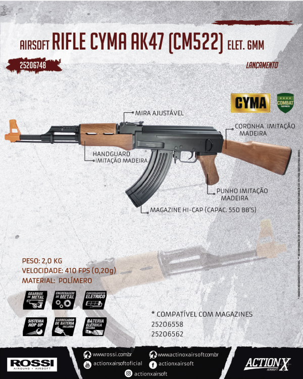 RICLE CYMA AK47 (CM522)